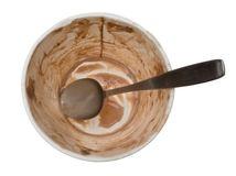 empty ice cream pint