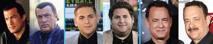 Before and Afters of Actors Who Gained Face Fat   Kenzai