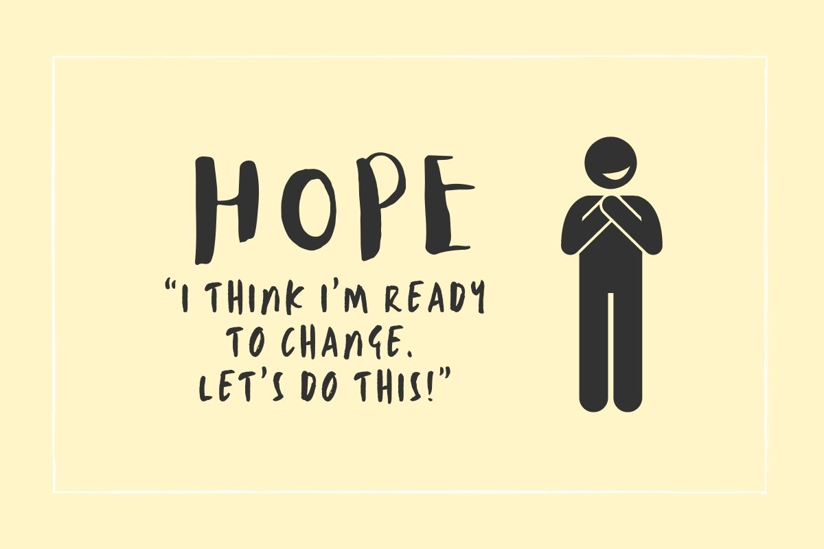 "Hope: ""I think I'm ready to change. Let's do this!"""